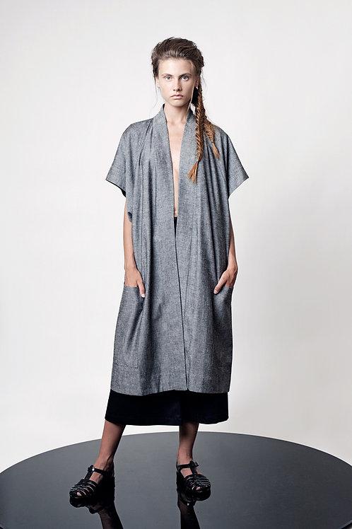 Loose kimono with belt