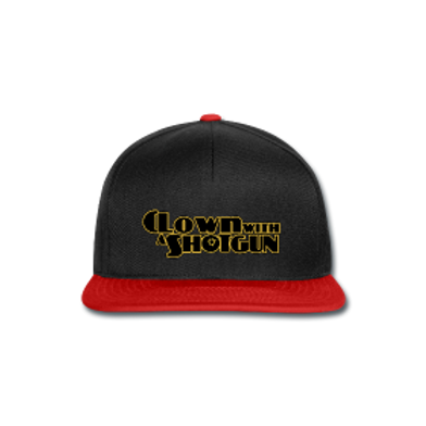 Snapback Noir&rouge clown with a shogtun
