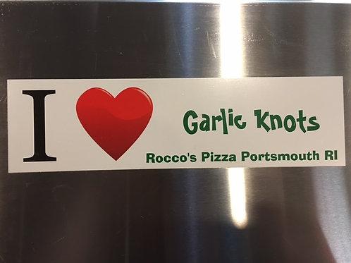 I Love Garlic Knots Bumper Sticker