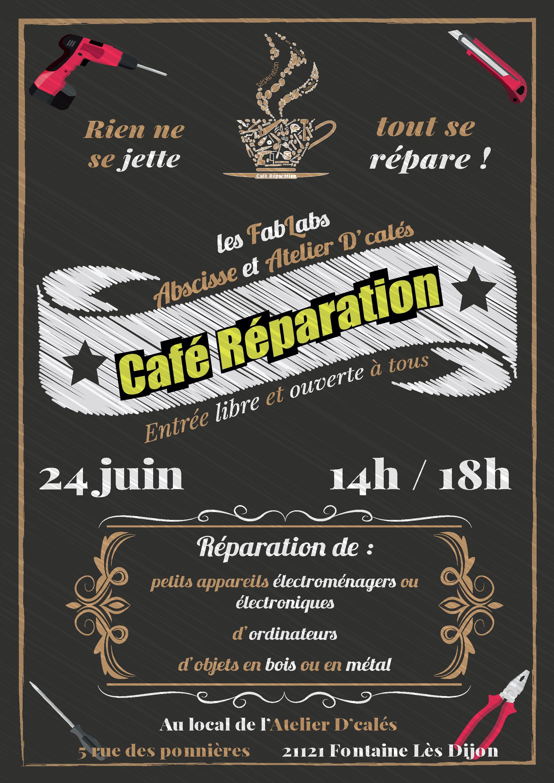 Affiche Café Réparation