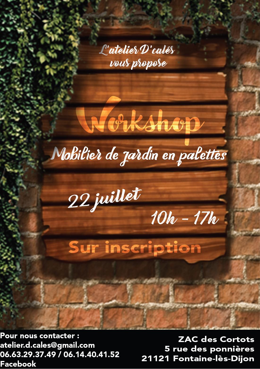 flyer workshop mobilier de jardin en palettes