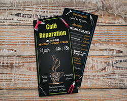 flyer café réparation type menu