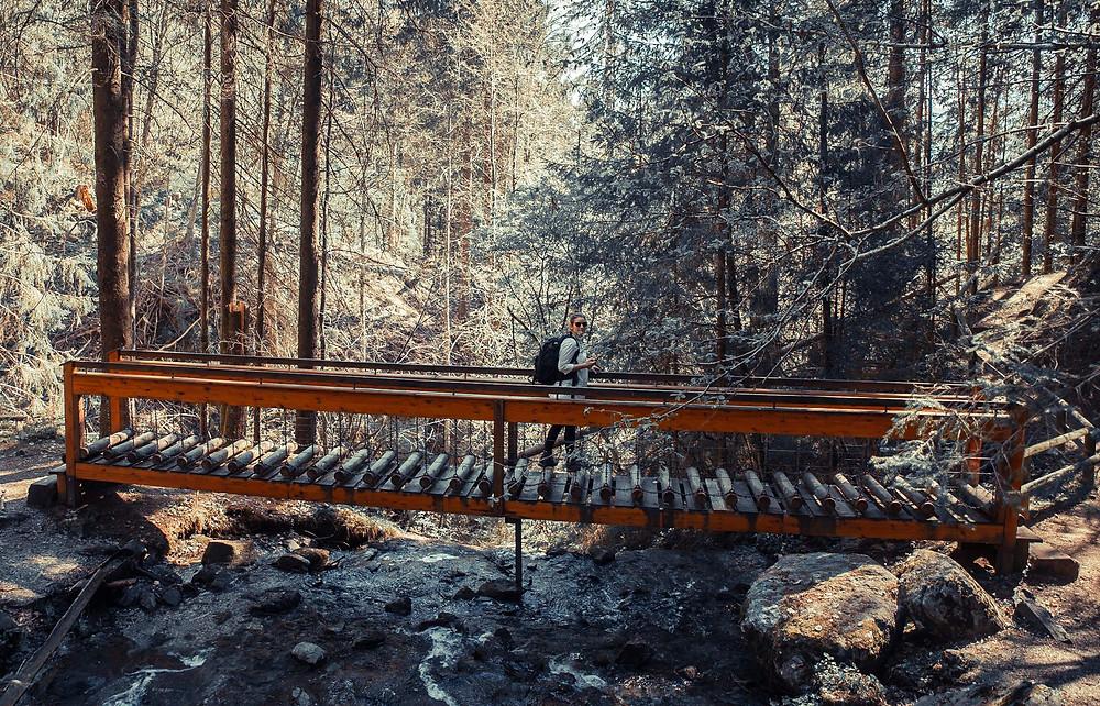Wandern-mit-kindern-hängebrücke-schleierwasserfall