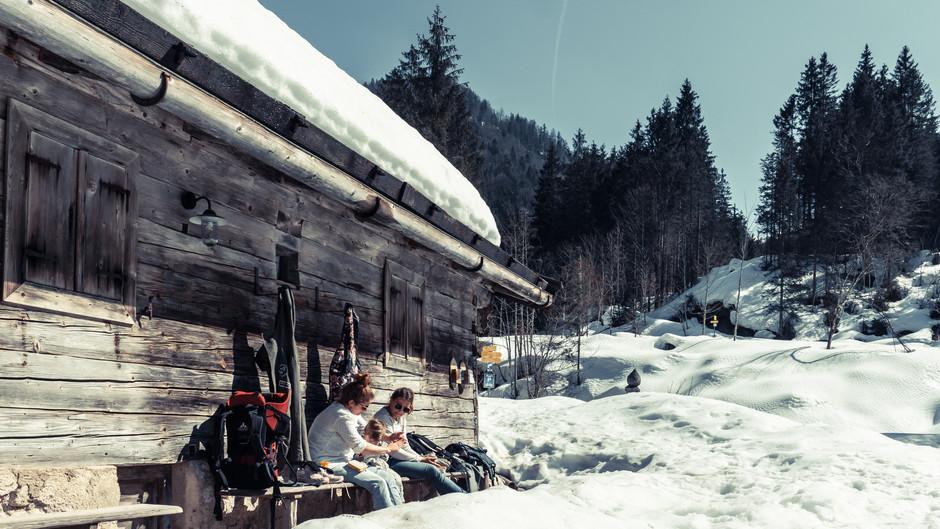 Siebenhütten am Tegernsee - leichte Winterwanderung mit Kindern