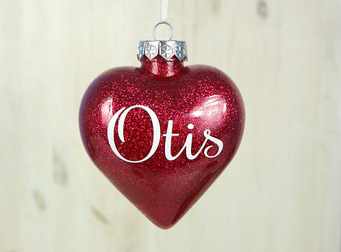 Heart Glitter Baubles