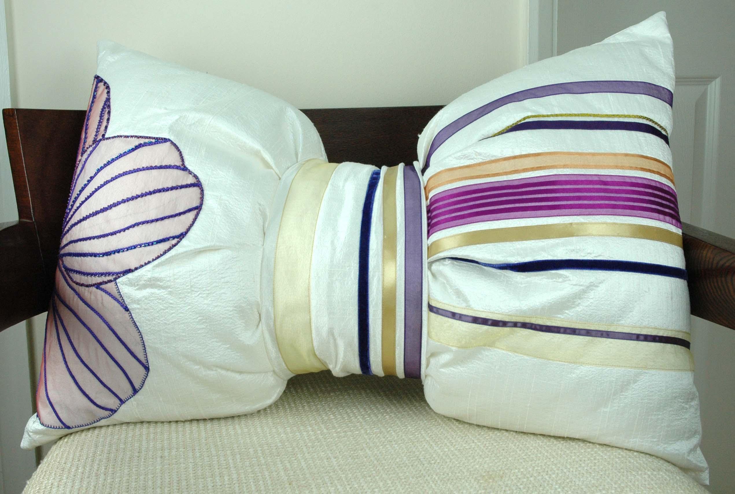 Orchid Bow Cushion