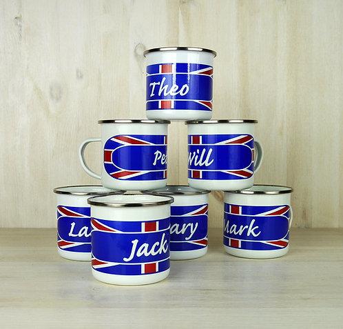 Union Jack Enamel Mug