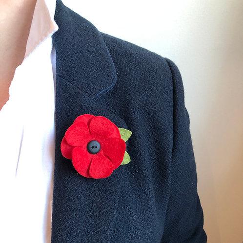 Poppy Brooch : In aid of The Royal British Legion