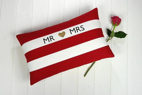 Cornish Folly Heart Red Cushion