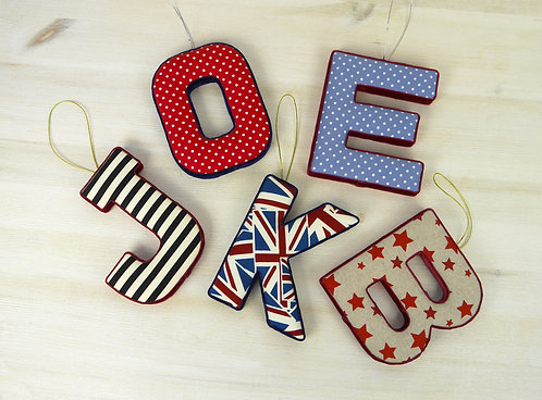 Padded Letter Decorations