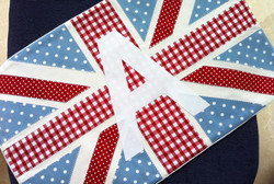 Monogrammed Flag Cushion