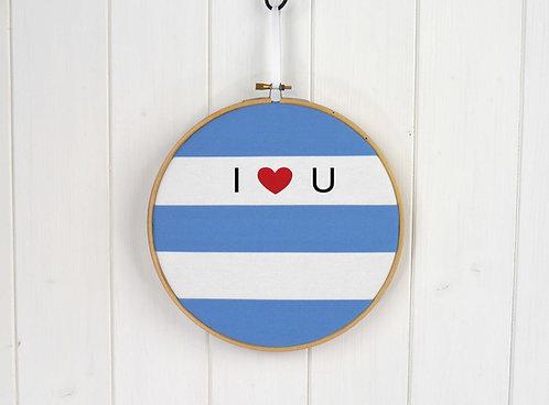 Cornish Stripe Blue Valentine's Hoop