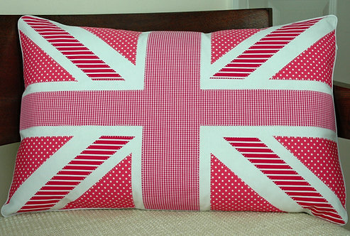 Hot Pink Union Jack Cushion