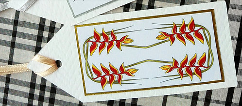 Heliconia Gift Tag