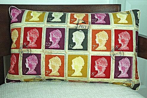 Vintage Stamp Cushion