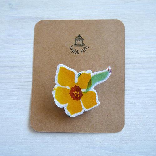 EB Daffodil Pin Brooch