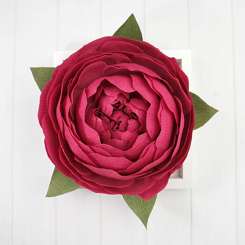 Framed Berry Pink Wall Peony