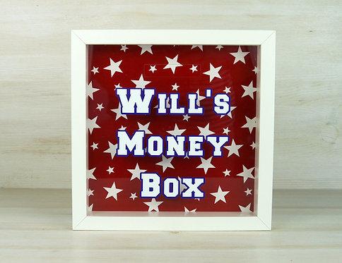 Varsity Personalised Money Box -Red