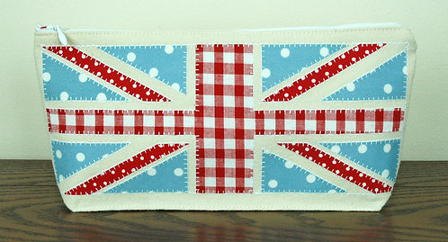 Duck Egg Union Jack Pencilcase