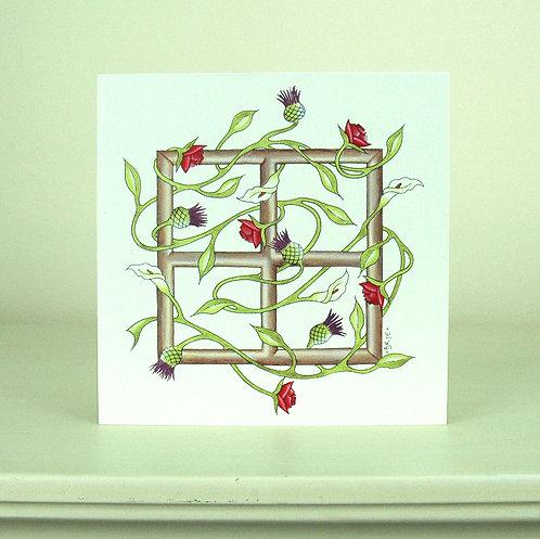 Rose Lily Trellis Card