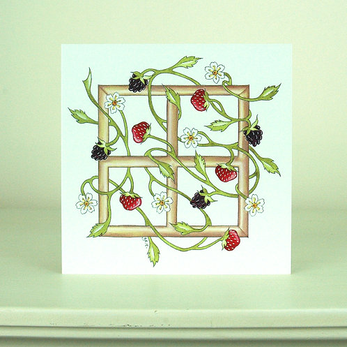 Berry Trellis Card