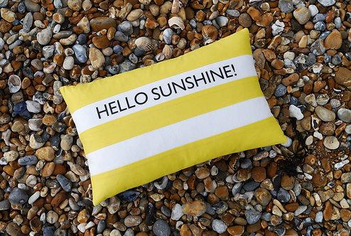 Cornish Folly Yellow Stripe Cushion
