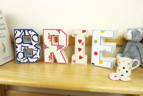 Emma Bridgewater 3D Cardstock Letters