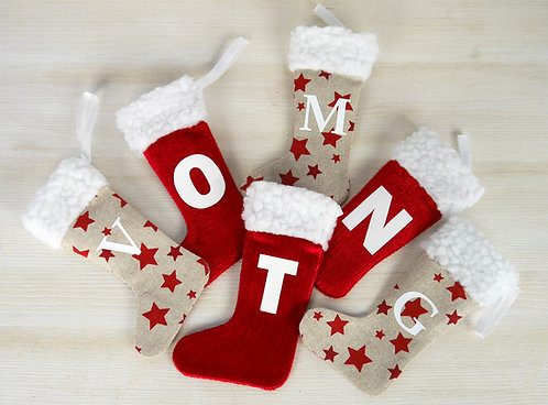 Mini Initial Stockings