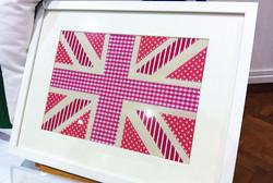 A4 UK Pink Framed Appliqué