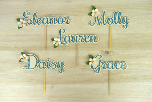 Daisy Personalised Name Cupcake Topper