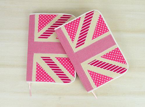 Pink Union Jack Notebook