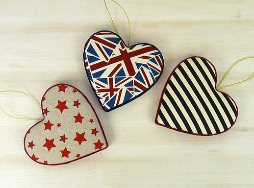 Padded Heart Decorations