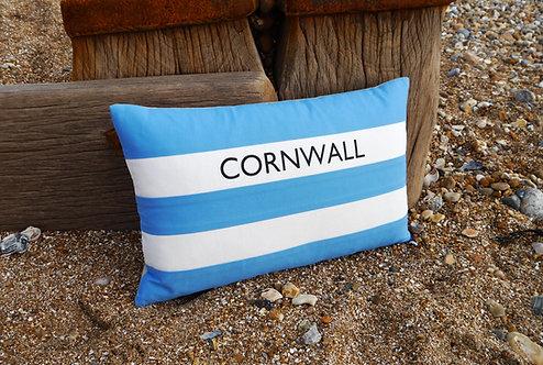Cornish Folly Blue Stripe Cushion