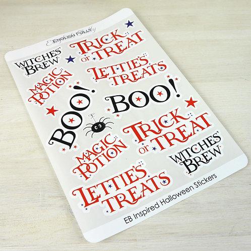 EB Halloween Label Sticker Sheet