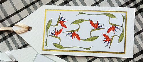 Bird of Paradise Gift Tag