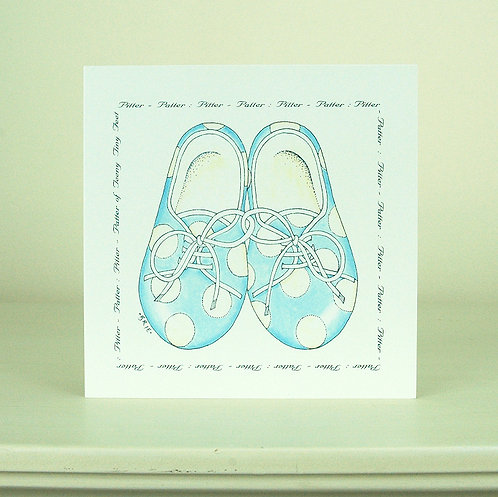 Blue Shoes Card