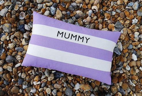 Cornish Folly Lilac Stripe Cushion