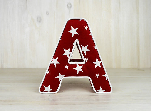 Red Star Padded Letter