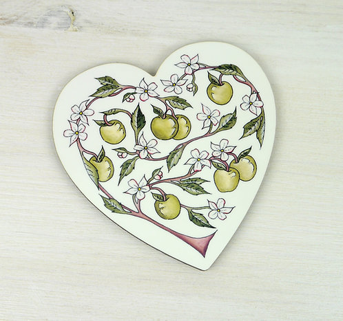 Apple Heart Coaster