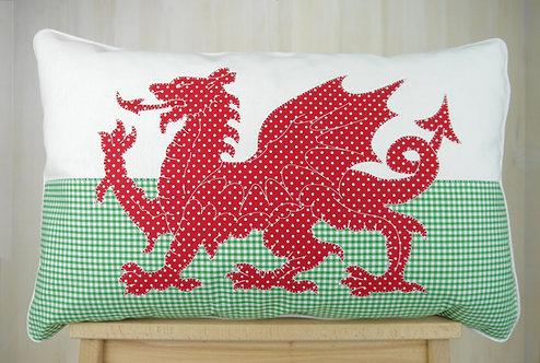 Welsh Dragon Flag Cushion
