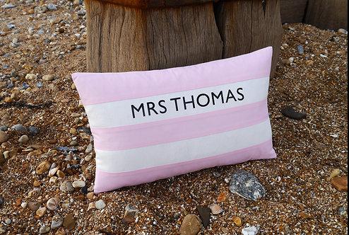 Cornish Folly Pink Stripe Cushion