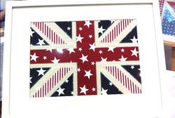 Stars UK Framed Appliqué
