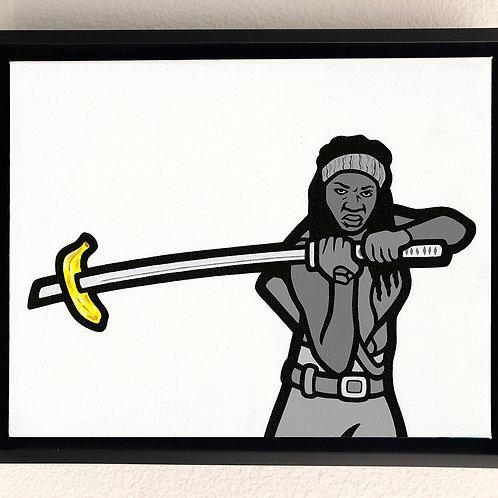 Horror Banana: Walking Dead Original Painting