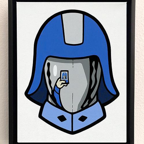 Selfie Commander Original Painting