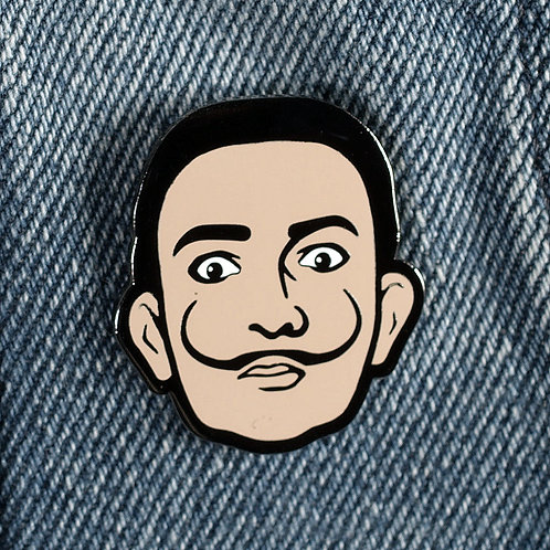Dali Hard Enamel Pin