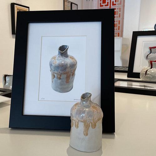 Porcelain Bud Vase With Print