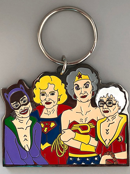 Golden Heroes Keychain