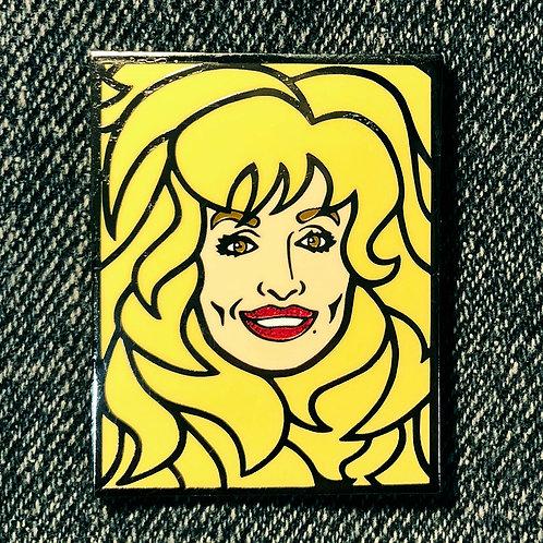 Dolly Hard Enamel Pin
