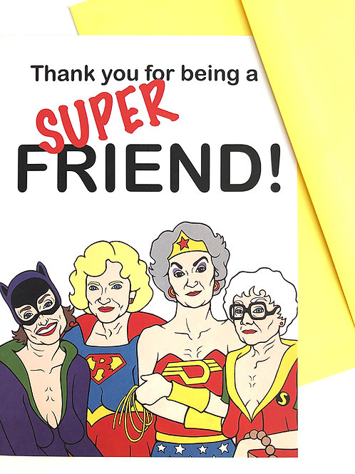 Golden Heroes Greeting Cards Set of 8