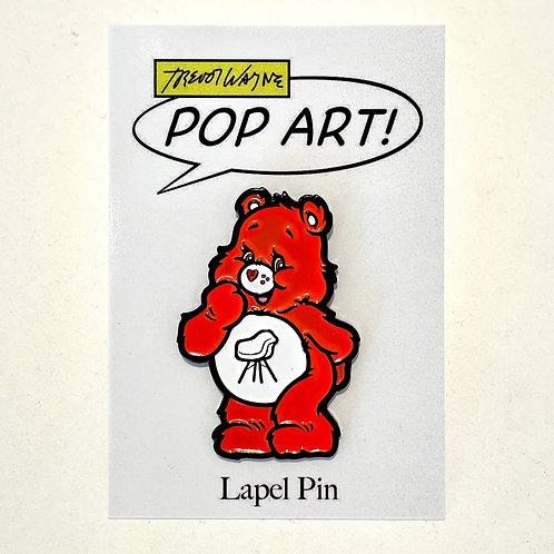Chair Bear Soft Enamel Pin